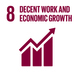 Embedding the SDGs into curriculum - SDG8: Decent Work and Economic Growth+Image